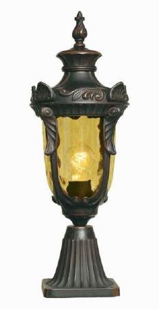 Elstead Philadelphia Pedestal Lantern Light Bronze