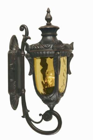 Elstead Philadelphia Outdoor Wall Uplight Lantern Medium, Bronze