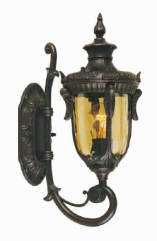Elstead Philadelphia Outdoor Walll Uplight Lantern Small