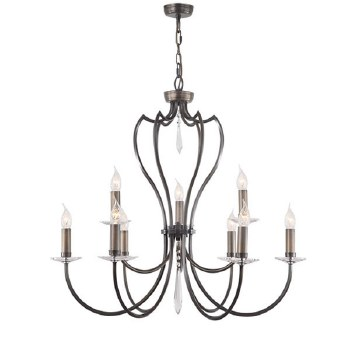 Elstead Pimlico 9 Light Chandelier Bronze