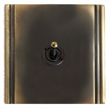 Plaza Dolly Switch 1 Gang Dark Antique Relief