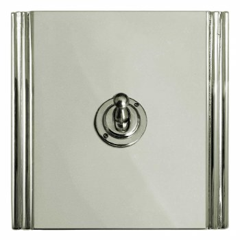 Plaza Dolly Switch 1 Gang Polished Nickel