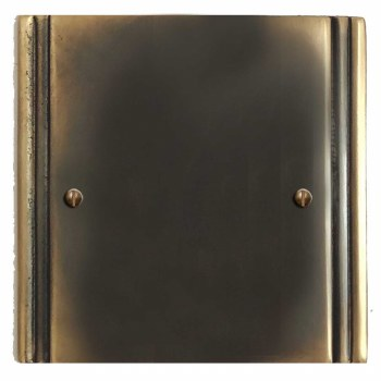 Plaza Single Blank Plate Dark Antique Relief