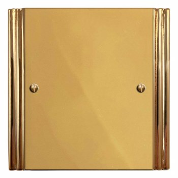 Plaza Single Blank Plate Polished Brass Unlacquered