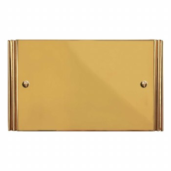 Plaza Double Blank Plate Polished Brass Unlacquered