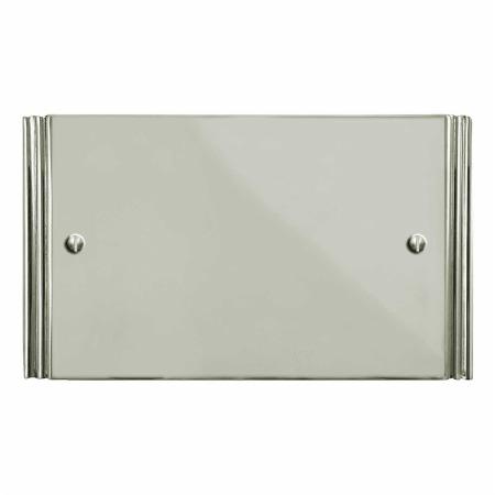 Plaza Double Blank Plate Polished Nickel