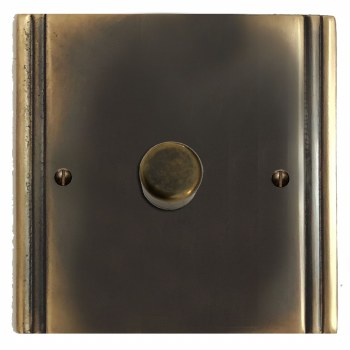 Plaza Dimmer Switch 1 Gang Dark Antique Relief