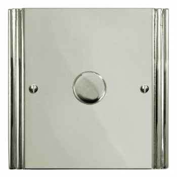 Plaza Dimmer Switch 1 Gang Polished Nickel
