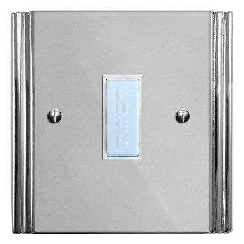 Plaza Fused Spur Connection Unit 13 Amp Polished Chrome & White Trim