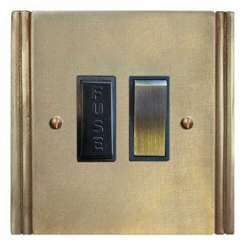 Plaza Switched Fused Spur Antique Satin Brass