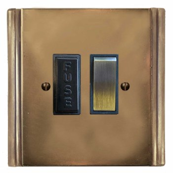 Plaza Switched Fused Spur Hand Aged Brass