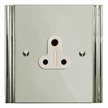 Plaza Lighting Socket Round Pin 5A Polished Nickel
