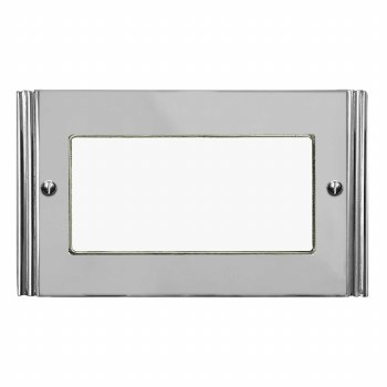 Plaza Plate for Modular Electrical Components 50x100mm Polished Chrome