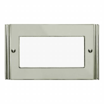 Plaza Plate for Modular Electrical Components 50x100mm Polished Nickel