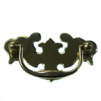 Armac Plain Plate Handle 89mm Polished Brass Lacquered