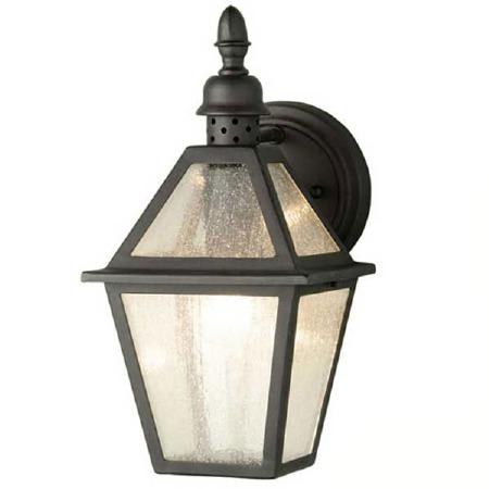 Elstead Polruan Outdoor Wall Light Lantern Black