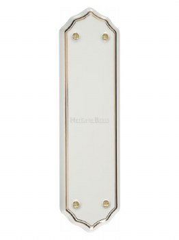 Heritage Porcelain Fingerplate 6000 White & Gold Line