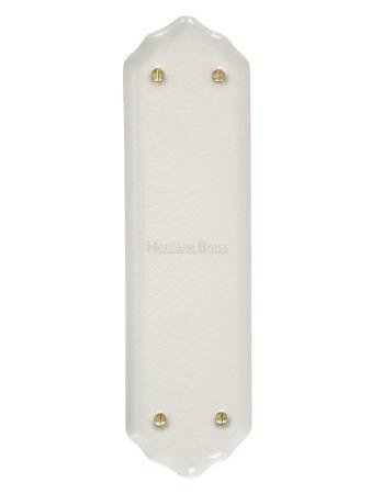 Heritage Porcelain Fingerplate 7000 White Crackle
