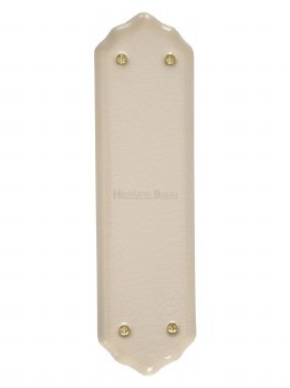 Heritage Porcelain Fingerplate 8000 Cream Crackle