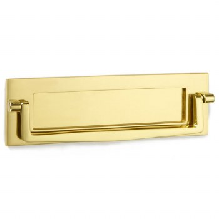 "Croft Postal Knocker 10""x3"" Polished Brass Unlacquered"
