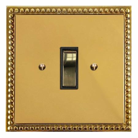 Regency Rocker Light Switch 1 Gang Polished Brass Unlacquered