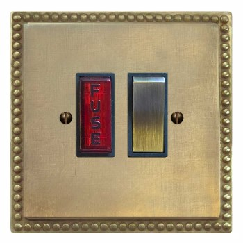 Regency Switched Fused Spur Illuminated Antique Satin Brass