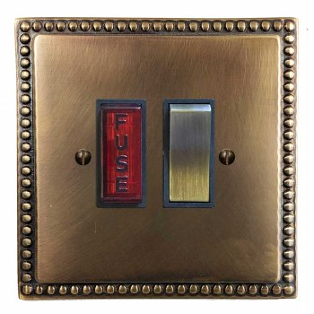 Regency Switched Fused Spur Illuminated Hand Aged Brass