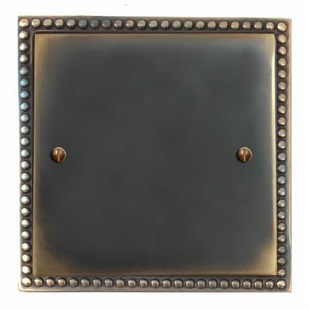 Regency Single Blank Plate Dark Antique Relief