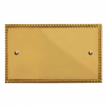 Regency Double Blank Plate Polished Brass Lacquered
