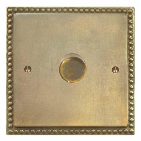 Regency Dimmer Switch 1 Gang Antique Satin Brass