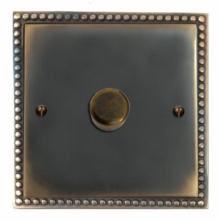 Regency Dimmer Switch 1 Gang Dark Antique Relief