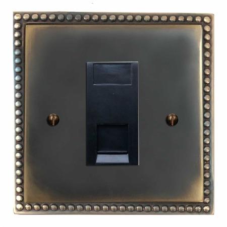 Regency Telephone Socket Secondary Dark Antique Relief