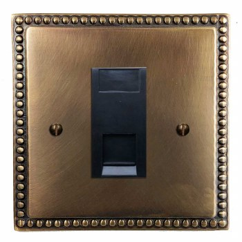 Regency Telephone Socket Secondary Hand Aged Brass