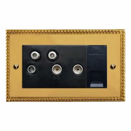 Regency Sky+ Socket Polished Brass Unlacquered