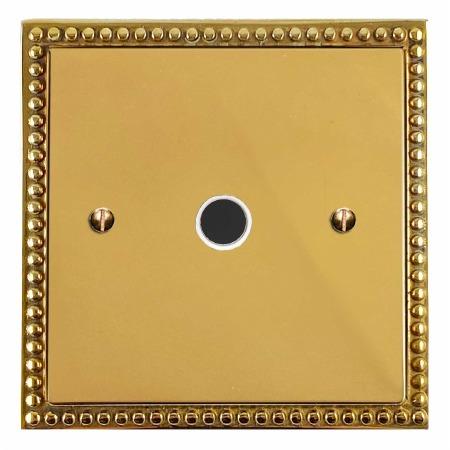 Regency Flex Outlet Polished Brass Lacquered & White Trim