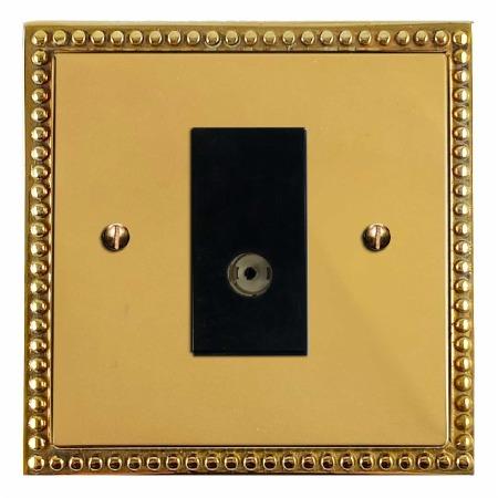 Regency TV Socket Outlet Polished Brass Unlacquered