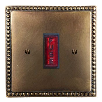 Regency Fused Spur Connection Unit Illuminated Indicator Hand Aged Brass