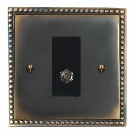 Regency Satellite Socket Dark Antique Relief