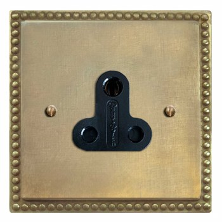 Regency Lighting Socket Round Pin 5A Antique Satin Brass