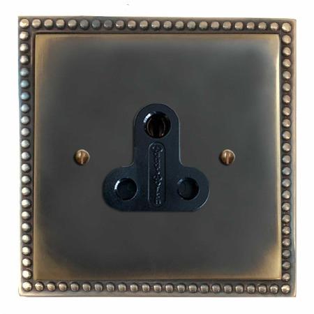 Regency Lighting Socket Round Pin 5A Dark Antique Relief