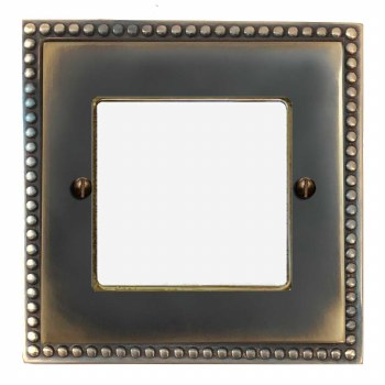Regency Plate for Modular Electrical Components 50x50mm Dark Antique Relief