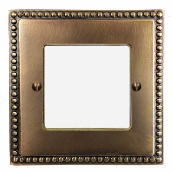 Regency Plate for Modular Electrical Components 50x50mm Hand Aged Brass
