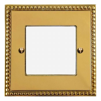 Regency Plate for Modular Electrical Components 50x50mm Polished Brass Unlacquered