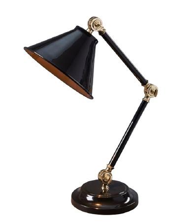 Elstead Provence Element Table Lamp Black & Brass
