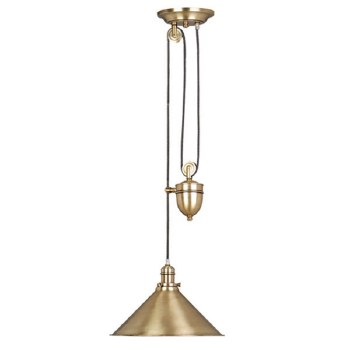 Elstead Provence Rise & Fall Ceiling Light Aged Brass