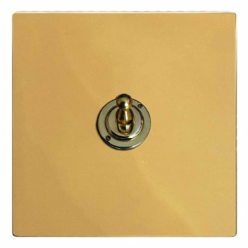 Victorian Dolly Switch 1 Gang Polished Brass Lacquered