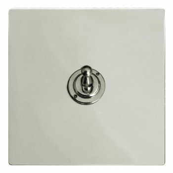 Victorian Dolly Switch 1 Gang Polished Nickel