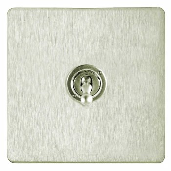Victorian Dolly Switch 1 Gang Satin Nickel