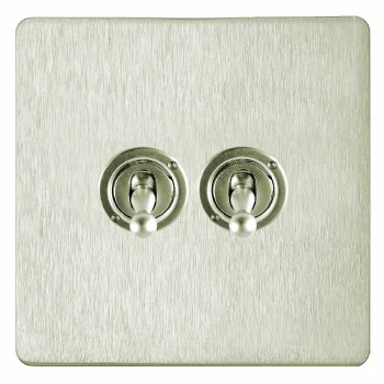 Victorian Dolly Switch 2 Gang Satin Nickel