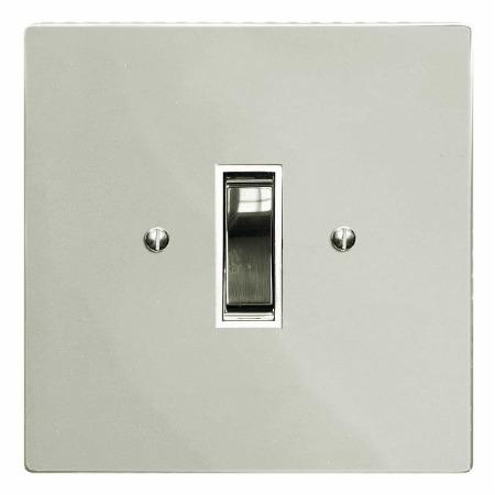 Victorian Rocker Light Switch 1 Gang Polished Nickel